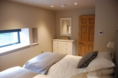 One of the twin bedrooms downstairs in the Barn.