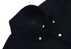 Green Checks On Navy Twill Blackwatch dress shirt from Luxire: http://custom.luxire.com/products/cotton-green-checks-on-navy-twill-bh_yksc_204946_ch  Features: Button down collar and 1-button cuffs.