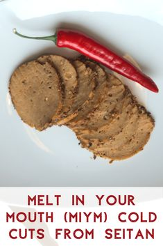 Melt In Your Mouth (MIYM) Cold Cuts from Seitan The other day we bought a wonderful Seitan cookbook (Seitan High Protein Vegan Recipes, Best Vegan Recipes, Easy Healthy Recipes, Seitan Recipes, Beetroot Powder, Cut Recipe, Cold Cuts, Melt In Your Mouth