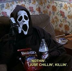 My Current October Mood. funny lol humor funny pictures funny memes funny pics funny images really funny pictures funny pictures and images Aesthetic Grunge, Scary Movies, Scary Movie Quotes, 90s Quotes, Horror Quotes, Film Quotes, The Villain, Reaction Pictures, Funny Pictures