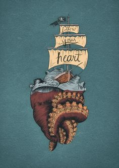 EG: Cristina Peri Rossi, Sálvese quien pueda Heart Illustration, Illustration Art Drawing, Art Drawings, Background Cool, Octopus Art, Beautiful Lettering, Drawing Quotes, Medical Art, Anatomical Heart