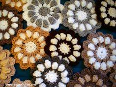 fiori uncinetto - mattonelle www.nonsolofiori.com