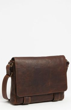 $498, Dark Brown Leather Messenger Bag: Frye Logan Messenger Bag Antique Dark Brown One Size. Sold by Nordstrom. Click for more info: http://lookastic.com/men/shop_items/142795/redirect