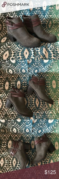 Sam Edelman Wrapped Ankle Boot Hannah Dark Grey Suede Ankle Strap Boot. Side Zip. Women's Size 9 Sam Edelman Shoes Ankle Boots & Booties