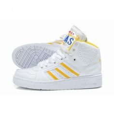 online store e842a 4c5a2 Women Adidas ObyO Jeremy Scott JS LICENSE PLATE White Shoes For   88.00 Go  To