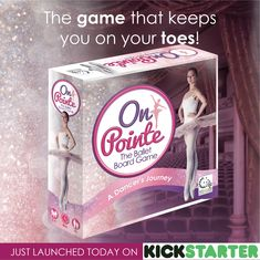 This cool new ballet-themed board game is available now on Kickstarter.  Check it out at analogamestudios.com/on-pointe #balletgame #onpointe #boardgame Games For Girls, Board Games, Product Launch, Ballet, Artists, Check, Gifts, Presents, Tabletop Games