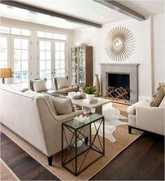 Living Room layout, open concept