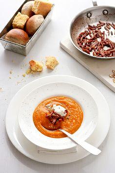 Butternut and Acorn Squash Soup by tartelette, via Flickr