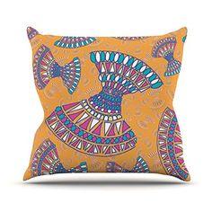 "Kess InHouse Miranda Mol ""Tribal Fun Orange"" Abstract Tangerine Throw Pillow, 26 by 26"" Kess InHouse http://www.amazon.com/dp/B00YTWKZ78/ref=cm_sw_r_pi_dp_Xi6axb0ZG3RCN"