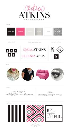 Logo and Website Design :: Chelsea Atkins Photography - Saffron Avenue | Graphic Design + Brand Styling