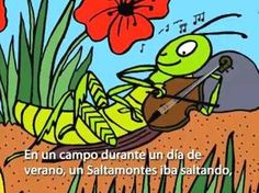 Fairy Tale: The Ant and the Grasshopper (La Hormiga y el Saltamontes) in Spanish from Speakaboos.com #fairytale #spanish #kids