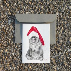 This item is unavailable Christmas Bunny, Christmas Gifts For Mom, Christmas Animals, Christmas Art, Christmas Decorations, Christmas Ideas, Holiday Decor, Kids World Map, Handmade Envelopes