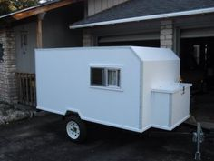My Tiny Travel Trailer Diy Teardrop Trailer, Cargo Trailer Camper, Trailer Diy, Tiny Camper, Utility Trailer, Small Campers, Trailer Build, Homemade Trailer, Homemade Camper