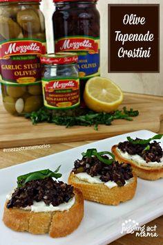 Mezzetta Holiday Recipes - Olive Tapenade Crostini #crostini #olives #giveaway http://jugglingactmama.com/2014/12/mezzetta-holiday-recipes-olive-tapenade-crostini.html