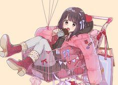 """Can you push me? Cool Anime Girl, Cute Anime Pics, Kawaii Anime Girl, I Love Anime, Anime Girls, Anime Art Girl, Chica Gato Neko Anime, Lolis Neko, Manga Girl"