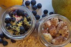 Overnight oats; twee fruitige variaties