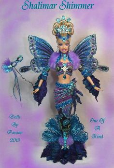 Barbie Mermaid Fairy Butterfly Wings Collector Doll Altered OOAK Custom Passion | eBay