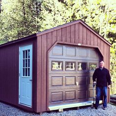 12' X 24' Wooden Portable Garage - Delivered Fully Assembled and Ready for Immediate Use...Visit NorthCountrySheds.com for more info..