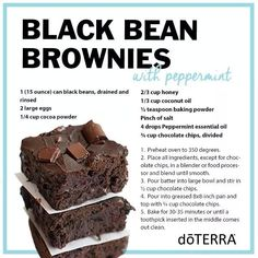 I made Black Bean Peppermint Brownies & Apple Cinnamon Cider with dōTERRA essential oils! Here are those recipes.