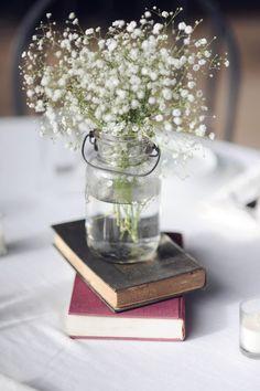 Excellent mason jar accessorizing at this beautiful wedding!