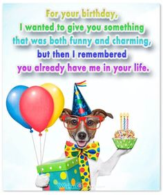 Check out this awesome collection of funny birthday wishes for friends with hilarious images, memes and 10 funny ideas to wish happy birthday. Funny Happy Birthday Messages, Best Happy Birthday Quotes, Birthday Wishes For Friend, Wishes For Friends, Happy Birthday Greeting Card, Happy Wishes, Greeting Cards, Happy Birthday Celebration, Happt Birthday