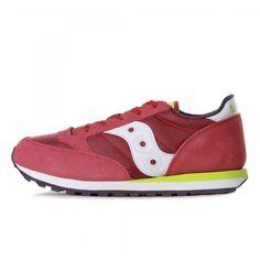 Iconica e intramontabile scarpa running Girls Jazz Original rossa e fucsia per bambine e ragazze della nuova linea di calzature Bambina e Teenager firmata Saucony.