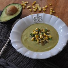 LoveUMadly | Chilled avocado soup Soooo delicious, and pretty easy to make. Tried it when I was recovering from a wisdom tooth extraction, but it is definitely staying on the menu!