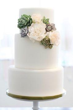 Pastel de boda... los pisos son demasiado grandes pero es sencillo