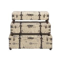 I pinned this 3 Piece Paris Storage Bench Set from the Breezy Bedroom event at Joss and Main!