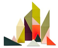 Children can put together any picture they want with simply different types of triangles. It is very interesting to see what kids can come out with.