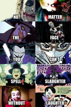 The many faces of joker (batman)