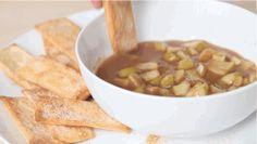 Warm Apple Pie Dip with Cinnamon Sugar Crisps