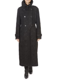 'Elodie' Glitzy Black Double Breasted Wool Coat | Jessimara