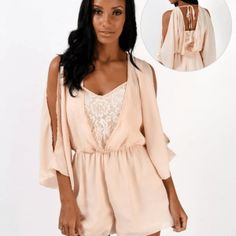 nude playsuit lace floaty - fashion - trendy - style - purple reign Trendy Style, Trendy Fashion, Purple Reign, Cold Shoulder Dress, Women Wear, Lace, Shopping, Dresses, Vestidos