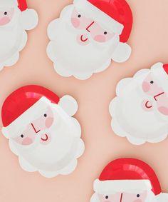 Holiday Santa Party Plate