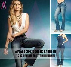 Com ajuste perfeito ao seu corpo, a Alvo da Moda buscou nos anos 70 a queridinha 'boca de sino', a atual Flare veio para ser protagonista da estação mais charmosa!  🌹🌹🌹  #Flare #anos70 #charme #Jeans #Alvolovers