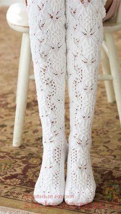 Ravelry: Thigh-High Stockings by Senja Jarva Vogue Knitting, Lace Knitting, Knitting Stitches, Knitting Socks, Knitting Patterns, Knitting Tutorials, Knit Socks, Stitch Patterns, Crochet Patterns