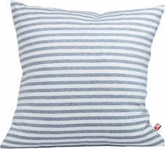 Coole Kissen In Grau/weiß Gestreift Stoffart: Jersey Größe: 50 Cm X 50 Cm