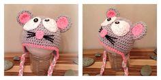 Mäuschen  Hellgrau Rosa  für Kinder & Erwachsene zu haben  Diy Clothes, Crochet Hats, Pink, Kids, Gray, Diy Clothing, Clothes Crafts