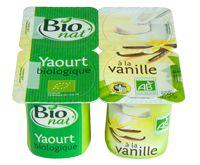 Yaourt aromatisé à la vanille bio Bio nat'