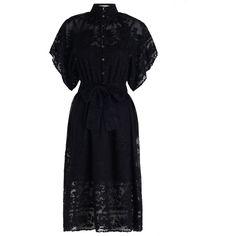 ZIMMERMANN Sakura Kimono Dress (905 CAD) ❤ liked on Polyvore featuring dresses, scalloped dress, kimono dress, swim dress, button front summer dress and summer dresses