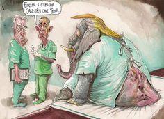 Australia:  trump cartoon 7 |  How The Rest Of The World Sees Donald Trump: 12 Foreign Political Cartoons