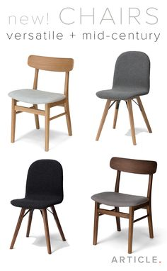 Use these versatile, mid-century dining chairs anywhere in your home. Place solo in front of a desk for a great study seat, in groups around one of our dining tables or placed in an entryway for a spot to take off shoes. Mix and match or keep a consistent style. Shop them all in walnut + oak.