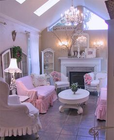 """How cute would this little cottage be for a """"lady cave"""" (soft grey bedroom shabby chic)"""