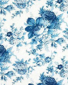 Home Decor – Chintz Is Blooming - ELLE DECOR. Garden Club floral cotton, in Porcelain, LCF60423F, $51/yd., by Ralph Lauren Home.