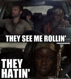lol. That guy with the backpack probably hated them. #thewalkingdead