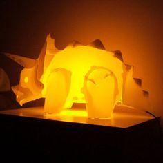 DIY Triceratops Dinosaur Table Desk Lamp Night Light Children Kids Bedroom Decor in Night Lights | eBay
