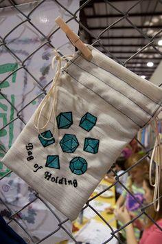 awsome dice bag!!!! Love the embroidery.