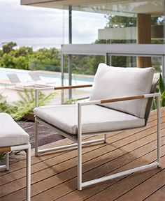 Item: Tully Armchair Room: Deck Colour: As shown only Size: 580 x 630 x 800 Cost: $699 From: Eco Outdoor See: Brisbane Lead Time: 14 Weeks if not in stock Notes: available in sofa, ottoman, dining chair