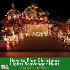 How to Play Christmas Lights Scavenger Hunt: Free Printable List! Fun Christmas Games, Holiday Party Games, Christmas Lights, Holiday Parties, Holiday Fun, Holiday Decor, Fun Games, Games To Play, Clark Griswold